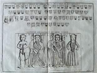 ANTIQUE ENGRAVING ANCIENT ROMAN TEMPLE OF MONTMORILLON