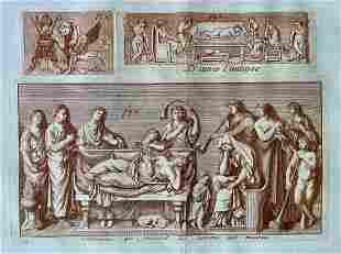 ANCIENT ROME ANTIQUE SEPIA ETCHING C 1780