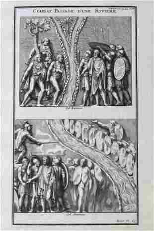 ANTIQUE ENGRAVING ANCIENT ROME COMBATS