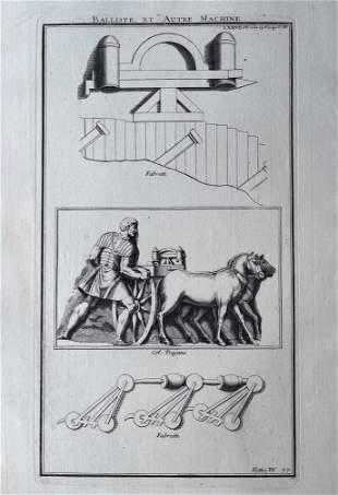 ANTIQUE ENGRAVING ANCIENT ROME WEAPONS