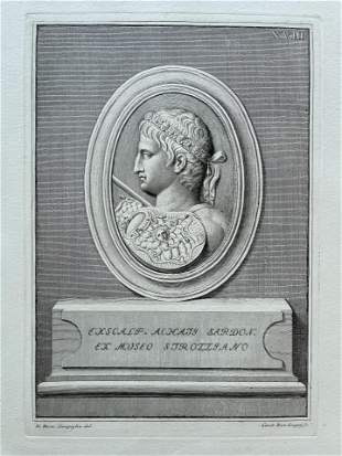 ANTIQUE NEOCLASSICAL ENGRAVING ETCHING ROMAN