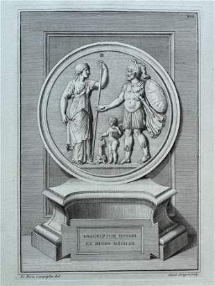 ANTIQUE NEOCLASSICAL ENGRAVING ETCHING GREEK ROMAN