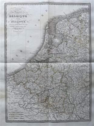 LAPIE ORIGINAL MAP BELGIUM AND HOLLAND 1833