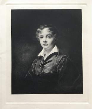 ETCHING SIR HENRY RAEBURN MASTER WILLIAM BLAIR