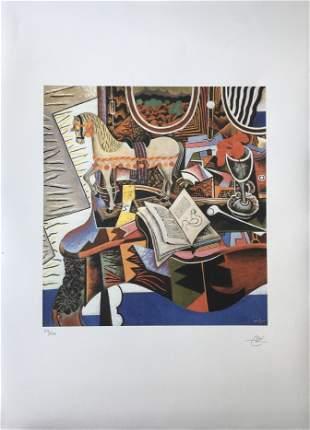 JOAN MIRO LARGE LITHOGRAPH PRINT