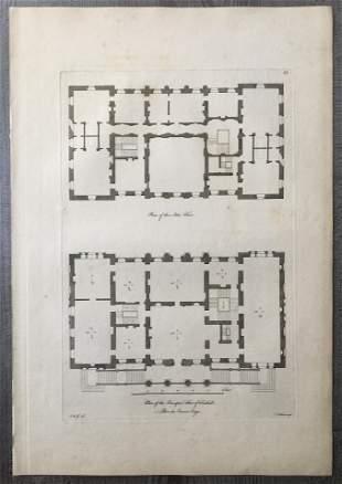 1767 VITRUVIUS BRITANNICUS ARCHITECTURAL ENGRAVING