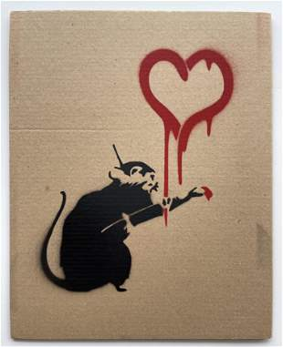 SPRAY PAINT ON CARDBOARD AFTER BANKSY