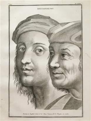 ENGRAVING AFTER A PORTRAIT OF RAPHAEL