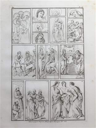 OLD MASTERS ANTIQUE FRENCH ENGRAVING Siecle XII - XVI