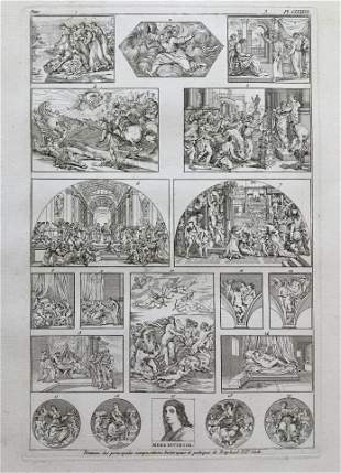 ANTIQUE ENGRAVING AFTER RAPHAEL PAINTINGS