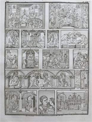 RELIGIOUS ENGRAVING AFTER VENETIAN SCHOOL OLD MASTERS