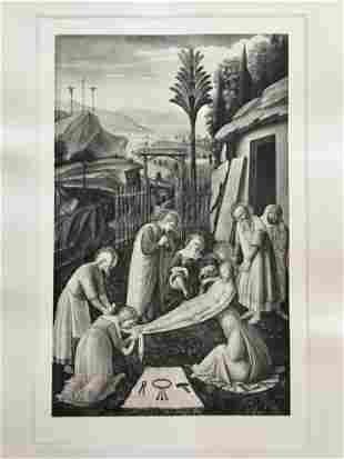 ETCHING AFTER FRA ANGELICO DA FIESOLE THE ENTOMBMENT