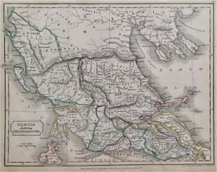 GRECIA EXTRA PELOPONNESUM Antique Map 1826