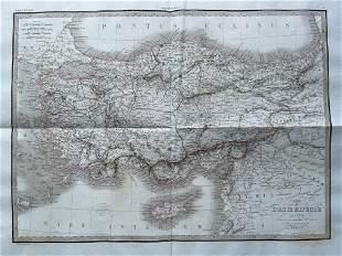 LAPIE ORIGINAL ANTIQUE MAP ASIA MINOR 1831