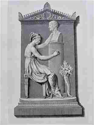 ENGRAVING ANTONIO CANOVA MONUMENT OTTAVIO TRENTO