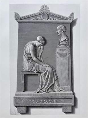 ENGRAVING ANTONIO CANOVA MONUMENT OF GIOVANNI VOLPATO