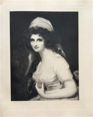 ETCHING GEORGE ROMNEY EMMA, LADY HAMILTON