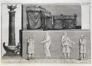 ENGRAVING OF GREEK ROMAN ANTIQUITIES ROCCHEGGIANI