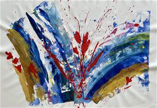 ORIGINAL ABSTRACT ACRYLIC ON CANVAS PAINTING