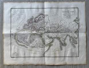 ANTIQUE MAP OF THE WORLD 1832