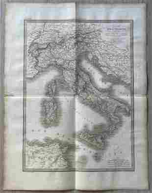 ANTIQUE MAP OF ITALY 1831