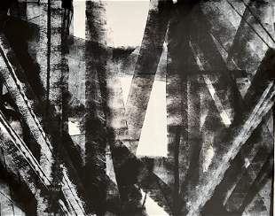 ABSTRACT LARGE ORIGINAL PAINTING KLINE STYLE