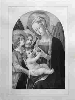 ETCHING AFTER OLD MASTER BONFIGLI MADONNA AND CHILD
