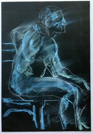 ABSTRACT DRAWING MALE NUDE