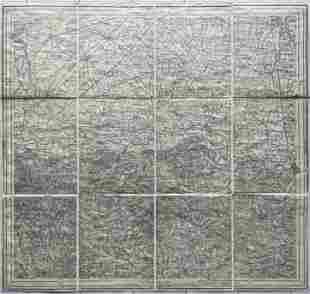 ANTIQUE ITALIAN MAP VERCELLI