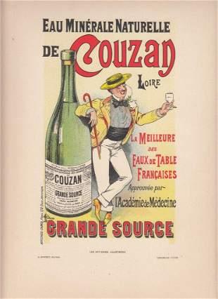 FRENCH ART NOUVEAU POSTER CA 1886 COUZAN