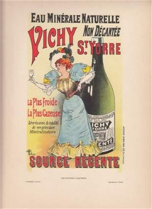 FRENCH ART NOUVEAU POSTER CA 1886 VICHY ST YORRE