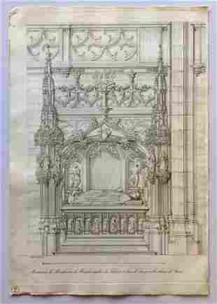 ITALIAN BAROQUE ARCHITECTURAL ENGRAVING 18th. C