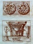 ANCIENT ROME ANTIQUE SEPIA ETCHING C 1780 BARBAULT