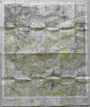 LARGE VINTAGE MAP OF LONDON S.E