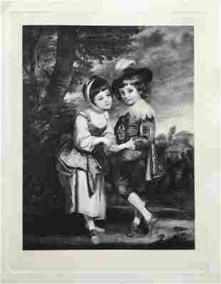 ETCHING AFTER JOSHUA REYNOLDS THE YOUNG FORTUNE TELLER