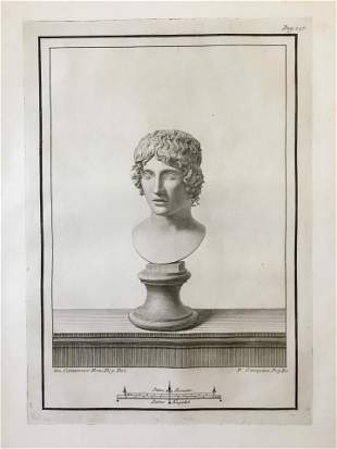 18th C ROMAN BUST ENGRAVING GIOVANNI CASANOVA