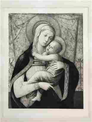 ETCHING AFTER FRA FILIPPO LIPPI MADONNA AND CHILD