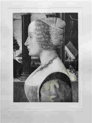 ETCHING AFTER BASTIANO MAINARDI PORTRAIT OF A WOMAN