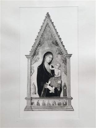 ETCHING AFTER OLD MASTER LIPPO MEMMI MADONNA AND CHILD