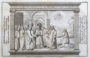 COPPER ENGRAVING ANCIENT LATIN RELIGIOUS MANUSCRIPT