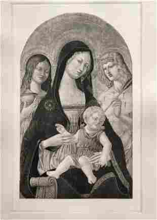 ETCHING AFTER NEROCCIO DEI LANDI MADONNA AND CHILD