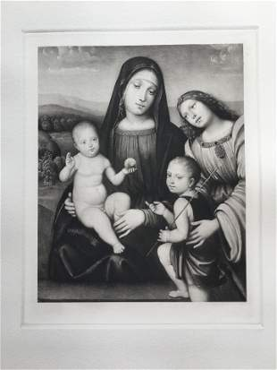 ETCHING AFTER FRANCESCO FRANCIA MADONNA AND CHILD