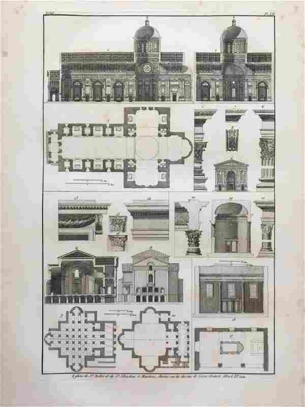 RARE ARCHITECTURAL ENGRAVING LEON BATTISTA ALBERTI XV