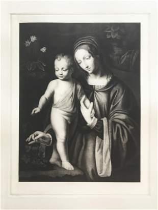 ETCHING AFTER GIOVANNI BARONZIO DA RIMINI MADONNA CHILD