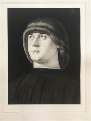 ETCHING AFTER GIOVANNI BELLINI PORTRAIT OF A YOUNG MAN