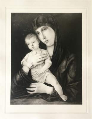 ETCHING AFTER GIOVANNI BELLINI THE MADONNA AND CHILD