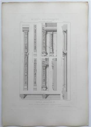 ANTIQUE FRENCH ARCHITECTURAL ENGRAVING