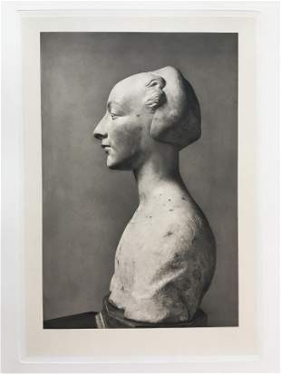 LARGE ETCHING ITALIAN BUST OF A WOMAN