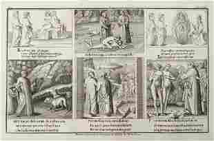 ANTIQUE ENGRAVING DANTE LATIN MANUSCRIPT XIV-XV Siecle