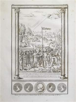 ANTIQUE FRENCH ENGRAVING POPE JULIUS II Siecle XVI